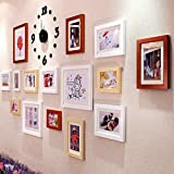 LNDDP Photo Frame Wall Photo Wall Aggiungi Combinazione di Colori Pittura Soggiorno Photo Wall Orologio da Parete personalità Creativa Design alla Moda (Colore: A)