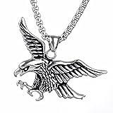 LANCHENEL Herren Hip Hop Eagle Titan Stahl Halskette Anhänger