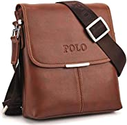 Videng Polo Classic Design Travel Business Bag for Men - Leather, Brown