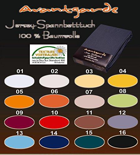 WASSERBETT / BOXSPRINGBETT - SPANNBETTLAKEN - EXTRA HOHER STEG - 100% FEINSTE MAKO-BAUMWOLLE - SEHR GUTE 165 g/m² 140x200 bis 160x220 Farbe 18 anthrazit - SPANNBETTTUCH