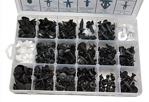 Sunreek 415pcs Push Retainer kit, tailles et les plus populaires, fermeture gratuit, Remover, voiture auto Push Pin Rivet Trim Clip Panneau Corps Intérieur Ensemble de Assortiment pour Ford pas cher – Livraison Express à Domicile