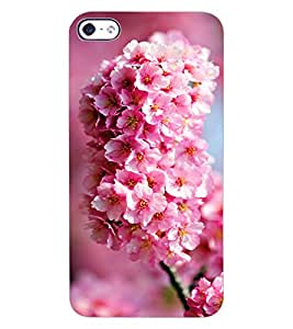 ColourCraft Lovely Flowers Bunch Design Back Case Cover for APPLE IPHONE 4