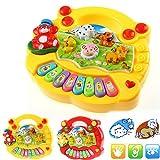 AchidistviQ Baby Kids Musical Educational Animal Farm Piano Developmental Music Toy Gift Yellow