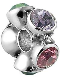 Nena Lina crystal bead con cristales de Swarovski elementos en{925} plata de ley, también compatible con Pandora pulseras, 718045-004