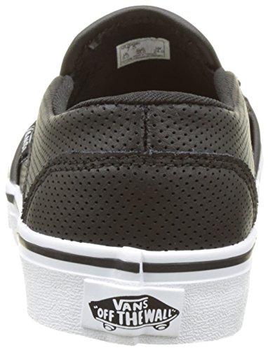 Vans Wm Asher, Sneakers Basses Femme Noir (Perf Leather Black)