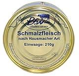 Pegauer Schmalzfleisch Hausmacher Art, Original sächsischer Rezeptur, 2x 210g Dose - ohne Konservierungsstoffe