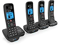 BT 6600 Nuisance Call Blocker Cordless Home Phone with Answer Machine (Quad Handset Pack)