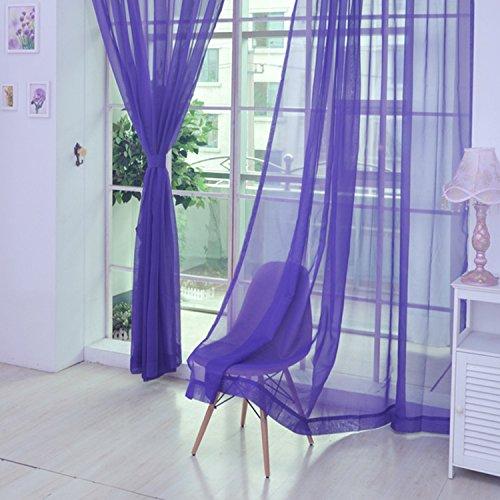 cheerfulus ventana de cortinas de cristal hilo transparente Panel para