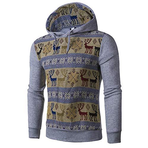 SEWORLD Weihnachten Christmas Herren Männer Herbst Winter Drucken Hoodie mit Kapuze Sweatshirt...