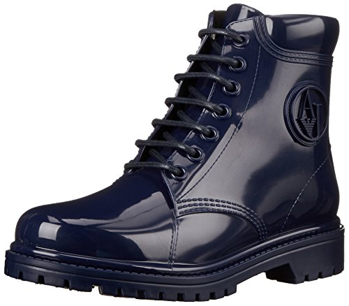 Armani Jeans Shoes & Bags DE B55K449, Stivaletti in gomma non imbottiti donna, Blu (Blau (BLU - BLUE)), 39