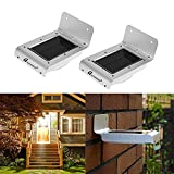 #9: Ascension ® 16 led Solar Lights Solar Ray Sensor Outdoor Light Solar Powered Wireless Waterproof Exterior Security Wall Light for Patio ,Deck ,Yard ,Garden ,Path ,Home ,Driveway ,Stairs ,NO DIM MODE (Pack of 2)