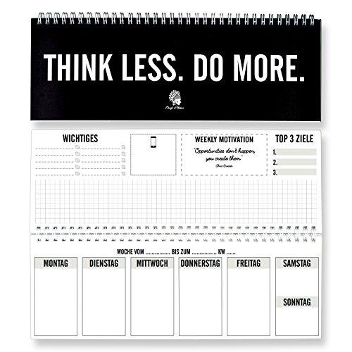 CHIEFS & TRIBES® Tischkalender / Wochenkalender im Quer-Format / 52 Wochen, 1 Woche 2 Seiten / Ohne festes Datum für 365 Tage / Terminplaner 2017