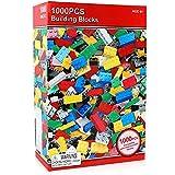 لعبة تركيب مكعبات بناء ، للأطفال، 1000 قطعة، متعدد الألوان