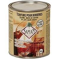 Saman sam-304–1L–Calcestruzzo interno per macchie fine legno per Seal, Macchie e smalto, Amaretto