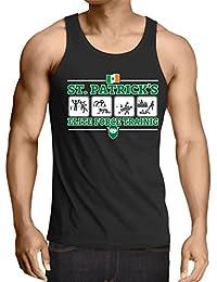 lepni.me Camisetas de Tirantes para Hombre Fuerza de Élite de San Patricio, Día