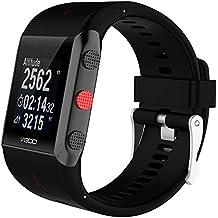 tpulling Polar 800Reloj de pulsera nueva de recambio de goma de silicona reloj de pulsera correa de mano, negro