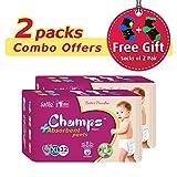 #8: Champs High Absorbent Premium Pant Style Diaper (Pack of 2)(Free 2-Pair Socks)| Premium Pant Diapers | Premium Diapers | Premium Baby Diapers | anti-rash and anti-bacterial diaper | (X-Large, 32)