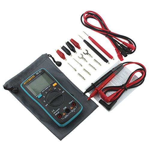 UEETEK Multímetro Digital Profesional AN8004 para Voltage Corriente CA/DC Capacitancia transitor Frecuencia con retroiluminación LCD (azul)