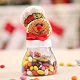 CALISTOUK Christmas Candy Storage Box Jar Bottle Gingerbread Man Xmas Home Decoration