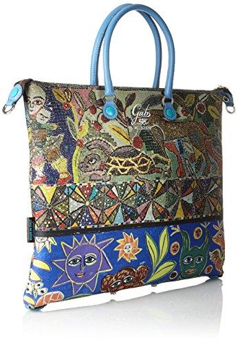 GABS G3 Tg L - Piatta Trasformabile Studio Print Borsa Donna, Multicolore (318 Decoro), 1x36x43 cm (B x H T)