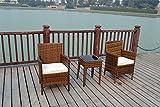 Bistro - Set di 2poltroncine in vimini, per veranda, esterni e giardino