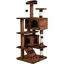 Yaheetech Árbol de Gatos Rascador Escalador para Gatos Mascota 50 x 50 x 130 cm Juguetes