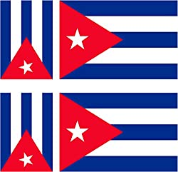 6x Aufkleber Vinyl Sticker Auto Moto Koffer Laptop Flagge Kuba