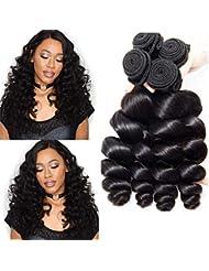3a66a1e95579 Musi 8A Cheveux Bresilien Tissage Loose Wave Tissage Bresilien Boucle Meche  Bresilienne Lot 3 Human Hair