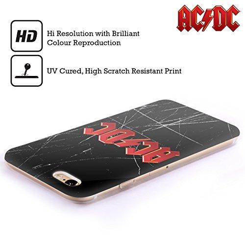 Offizielle AC/DC ACDC Hörner Logo Soft Gel Hülle für Apple iPhone 6 / 6s Rot
