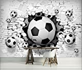 VLIES Fototapete Tapete Fototapeten Foto ABSTRAKTION FUSSBALL BALL 3D 3383 VE 416 (B) x 254 (H)