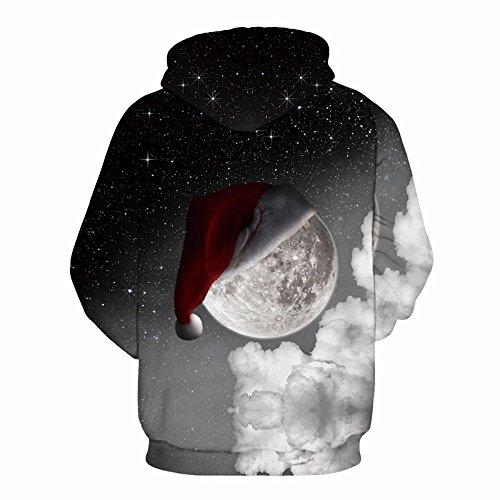 iBaste Stampa 3D pullover Felpa con cappuccio felpa maglione con cappuccio moda stampa digitale luna