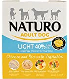 Naturo Wet Dog Food Adult Light Chicken and Rice 400 g, Pack of 10