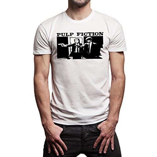 Pulp Fiction Ouentin Tarantino Movie Stech Herren T-Shirt Weiß