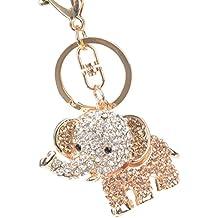 iDealhere 1Stk. Schlüsselanhänger Strass Elefant Pudel Hund Taschenanhänger Kristall Anhänger (champagne elephant)