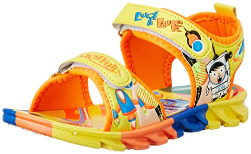 Footfun (from Liberty) Unisex Kld-001 Yellow Sandals Floaters - 7.5 Kids UK/India (25 EU)