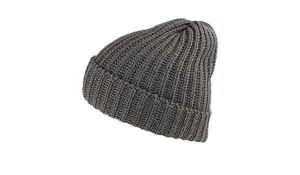d9abfdbf232 Highland 2000 Merino Wool Short Fisherman Beanie - Charcoal 1-Size   Amazon.co.uk  Clothing