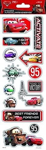 Sandylion Cars Chipboard Foil Stickers, 4 by 12-Inch by