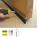 Stormguard 02SR0190838G - Guarnizione paraspifferi a spazzola con pinna in alluminio, applicazione nella parte inferiore delle porte, ideale per sigillare fessure fino a 1,5 cm 838 mm Argento