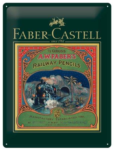 Faber Castell 10-007-224 - Blechschild 1761-2011, 30x40 cm, Eisenbahnstrecke Stein - Nürnberg