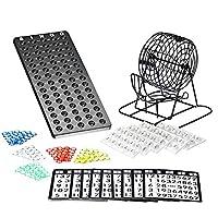 Bingo-Spiel-Set-mit-Bingotrommel-aus-Metall-75-Kugeln-18-Bingo-Spiel-Karten-150-Bingochips-Ergebnisbrett-Gesellschaftsspiele-Lotto-Geschenkideen-Spieleabend