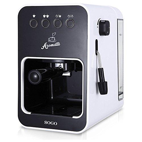 Cafetera espresso, capuccino, monodosis, café molido 1050W