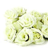 ROSENICE 20pcs Seidenblume Rose Köpfe Simulation stieg künstliche Blüten Hochzeit Party Deko
