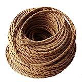 REACHYEA Geflochtenes Kabel, 2x 0,75mm2,Edison-Vintage, elektrischer Draht mit Textilummantelung