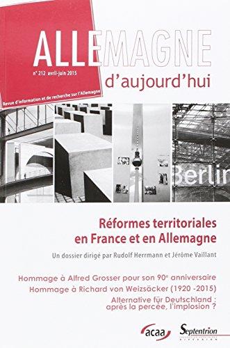 Reformes Territoriales en France et en Allemagne