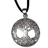 Anhänger Lebensbaum Keltischer Bronze Schmuck mit Lederhalsband - Heilung - Weltenbaum Baum des Lebens