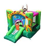 Happy Hop - Castello Gonfiabile a Forma di Giraffa, con Scivolo, 280 x 210 x 160 cm, incl. picchetti per Ancoraggio e Kit di Riparazione