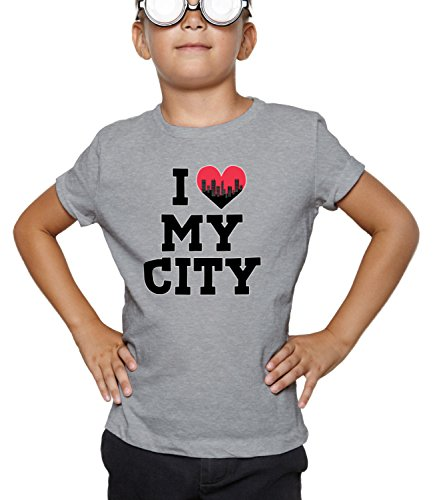 Billion Group | In Love With | City Collection | Boys Classic Crew Neck T-Shirt Grigio Medium