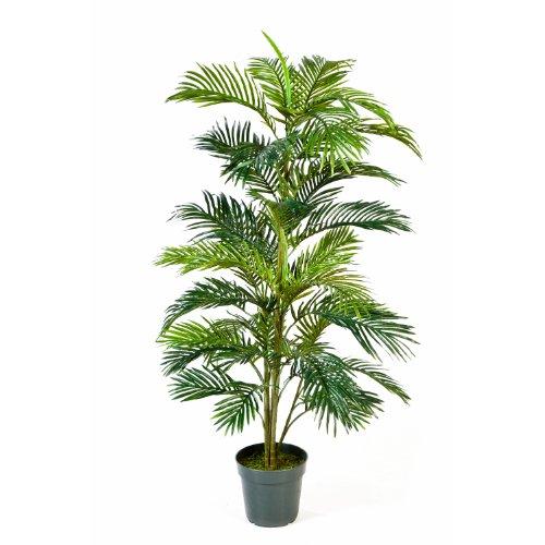 artplants Künstliche Areca-Palme JENNICA im Zementtopf, 39 Palmwedel, 150 cm – Kunstpalme/Dekopalme