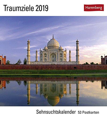 Traumziele Sehnsuchtskalender - Kalender 2019 - Harenberg-Verlag - Postkartenkalender mit 53 heraustrennbaren Postkarten - 16 cm x 17,5 cm