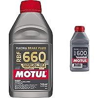 Motul 101666 RBF 660 Racing Liquide de Frein, 0.5 L & Bidon de 0,5 l de Liquide de Frein RBF 600 Racing